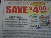 15 Coupons $4/1 Centrum or Centrum Silver 60ct+ 5/15/2017