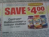 15 Coupons $4/1 Centrum MultiVitamin or Centrum VitaMints 70ct 5/15/2017