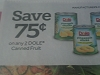 15 Coupons $.75/2 Dole Canned Fruit 6/30/2017