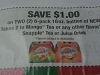15 Coupons $1/2 Snapple Takes 2 To Mango or Any Snaple Tea or Juice 6pk 16oz 8/4/2017