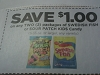 15 Coupons $1/2 Swedish Fish or Sour Patch Kids Candy 7/1/2017