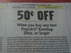 15 Coupons $.50/2 French's Ketchup 20oz+ DND 7/16/2017