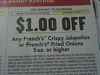 15 Coupons $1/1 French's Crispy Jalapenos or Fried Onions 5oz+ DND 7/16/2017
