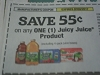 15 Coupons $.55/1 Juicy Juice 7/3/2017