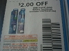 15 Coupons $2/1 Oral B Adult Battery Toothbrush 6/10/2017