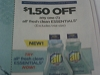 15 Coupons $1.50/1 ALL FRESH ESSENTIALS 7/22/2017
