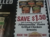 15 Coupons $1.50/1 Johnsonville Flame Grilled Chicken Breasts 9/30/2017
