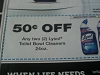 15 Coupons $.50/2 Lysol Toilet Bowl Cleaners 24oz 7/31/2017