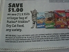 15 Coupons $1/1 Purina Friskies 3.15lbs bag Dry Cat Food 11/6/2017