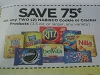 15 Coupons $.75/2 Nabisco Cookie or Cracker 3.5oz+ 9/22/2017