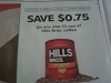 15 Coupons $.75/1 can Hills Bros Coffee 10/31/2017
