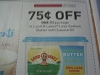 15 Coupons $.75/1 Land o Lakes Less Sodium Butter with Canola Oil 10/15/2017