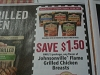 15 Coupons $1.50/1 Johnsonville Flame Grilled Chicken Breasts 11/4/2017