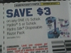 15 Coupons $3/1 Schick Hydro 5 or Schick Hydro Silk Disposable Razor pack 9/10/2017