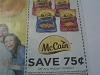 15 Coupons $.75/1 any Mccain Product 10/31/2017