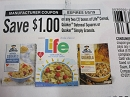 15 Coupons $1/2 boxes Life Cereal, Quaker Oatmeal Squares or Simply Granola 5/5/2019