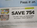 15 Coupons $.75/2 Dole Fruit Bowls 5/31/2019