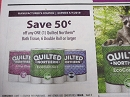 15 Coupons $.50/1 Quilted Northern Bath Tissue 6 Double Roll 5/7/2019