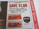 15 Coupons $1/1 Wright Brand Bacon DND 5/31/2019