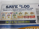 15 Coupons $1/2 Good Thins Snacks or Triscuit Wheatberry Clusters 5/25/2019