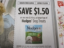 15 Coupons $1.50/1 Nudges Dog Treats 10oz 7/31/20019