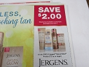15 Coupons $2/1 Jergens Natural Glow 7.5oz 6/2/2019