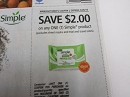 15 Coupons $2/1 Simple Product 5/26/2019