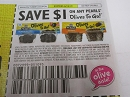 15 Coupons $1/1 Pearls Olives to Go DND 6/15/2019