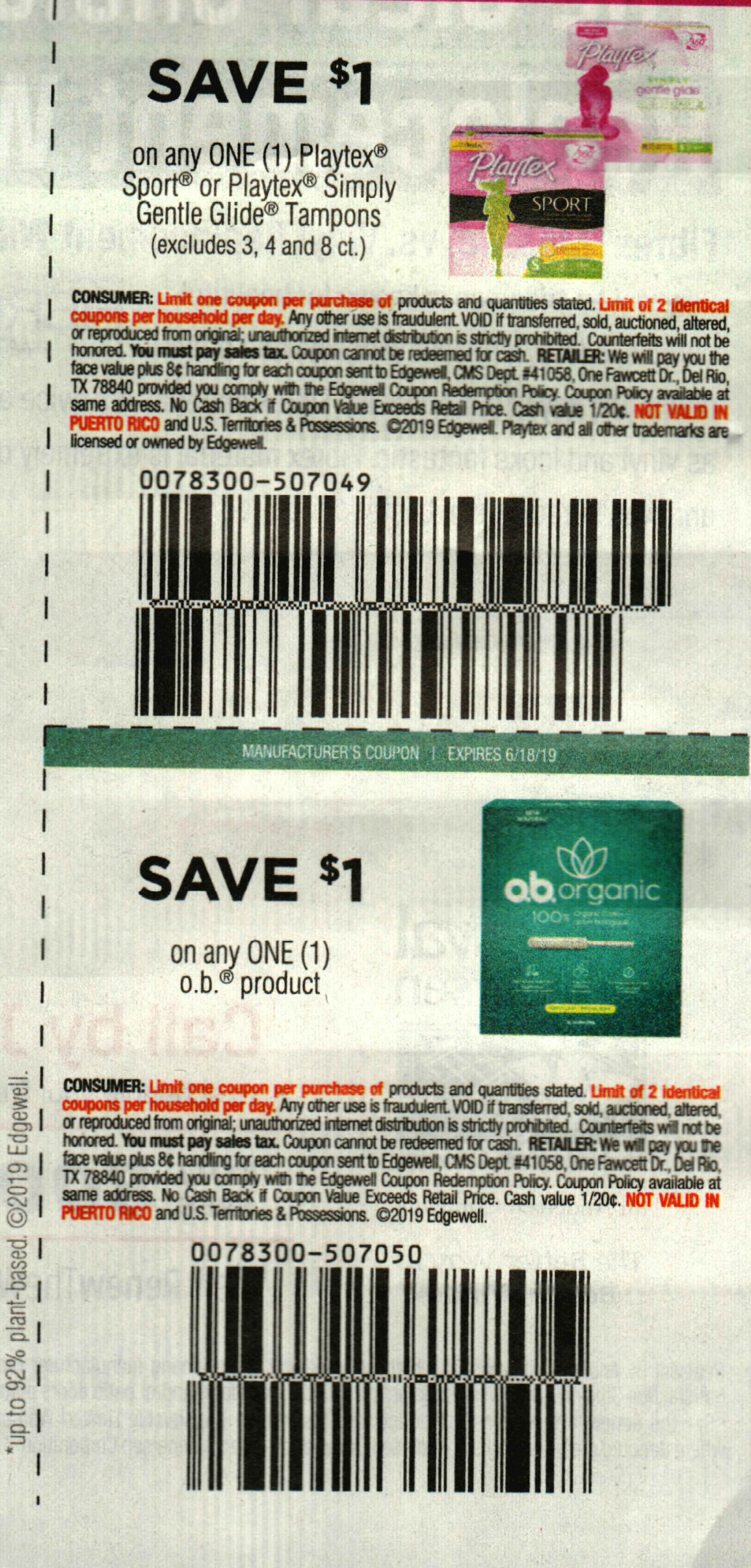 Printable Playtex Coupons for Tampons, Pads, Liners and Wipes