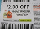 15 Coupons $2/1 Tide Detergent 1/26/2019