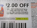 15 Coupons $2/1 Tide Antibacterial Spray 1/26/2019