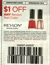 15 Coupons $1/1 Revlon Nail Color 7/6/2019