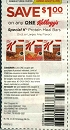 15 Coupons $1/1 Kelloggs Special K Protein Meal Bars 5ct+ 8/18/2019