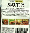 15 Coupons $.50/2 Nature Valley Granola Bars 9/28/2019