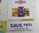 15 Coupons $1/1 Sunsweet Dried Fruit 11/15/2019