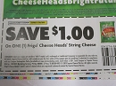 15 Coupons $1/1 Frigo Cheese Heads String Cheese 9/30/2019