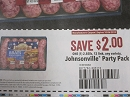 15 Coupons $2/1 Johnsonville Party Pack 12 Link 10/6/2019 DND
