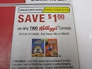 15 Coupons $1/2 Kellogg's Cereals 10/20/2019