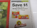 15 Coupons $1/1 Borden Cheese DND 10/5/2019