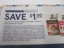 15 Coupons $1/2 Quaker Instant Oats 10/6/2019