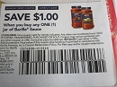 15 Coupons $1/1 Barilla Sauce 11/3/2019