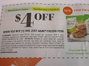 15 Coupons $4/1 Just Bare Frozen Item 11/3/2019