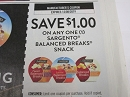 15 Coupons $1/1 Sargento Balanced Breaks Snack 12/8/2019