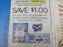 15 Coupons $1/2 Chips Ahoy Thins Cookies 10/26/2019