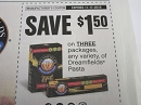15 Coupons $1.50/3 Dreamfields Pasta 11/17/2019