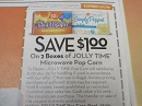 15 Coupons $1/2 Jolly Time Microwave Pop Corn 11/17/2019