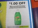 15 Coupons $1/2 Gain Dishwashing Liquid 21.6oz 10/12/2019