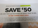 15 Coupons $.50/2 Dole Fruit in Gel 12/8/2019