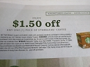 15 Coupons $1.50/1 pack Starbucks Coffee 12/31/2019