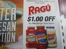 15 Coupons $1/2 Ragu Pasta Sauces DND 12/1/2019